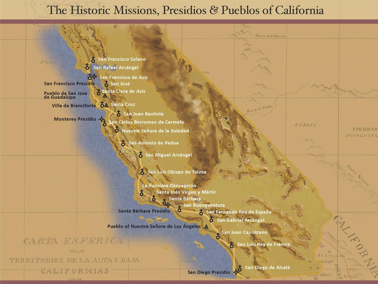 All 21 California Missions | Places I Am Going To Go. | California - California Missions Map