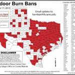 All Area Counties Now Under Burn Ban | 88.9 Ketr   Texas Burn Ban Map