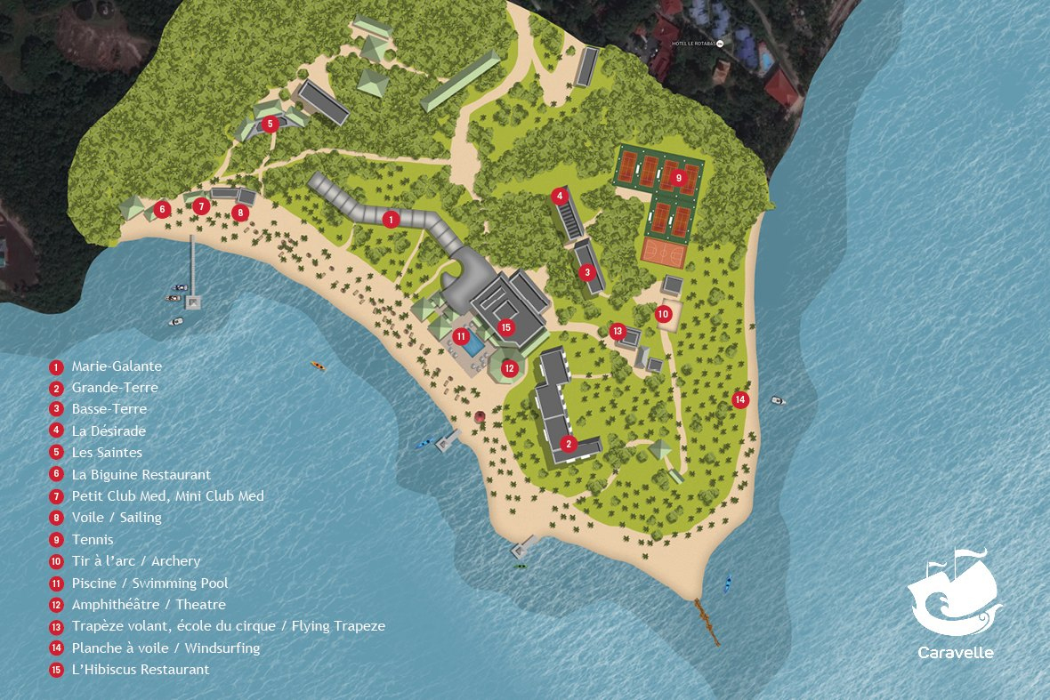 All Inclusive Resort In Guadeloupe | All Inclusive Vacations With - Club Med Florida Map