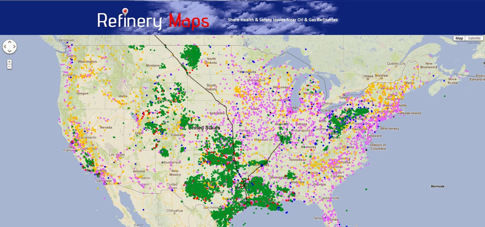 All Midwest Oil & Gas Pipelines Lead To Houston, Texas - Texas Refineries Map