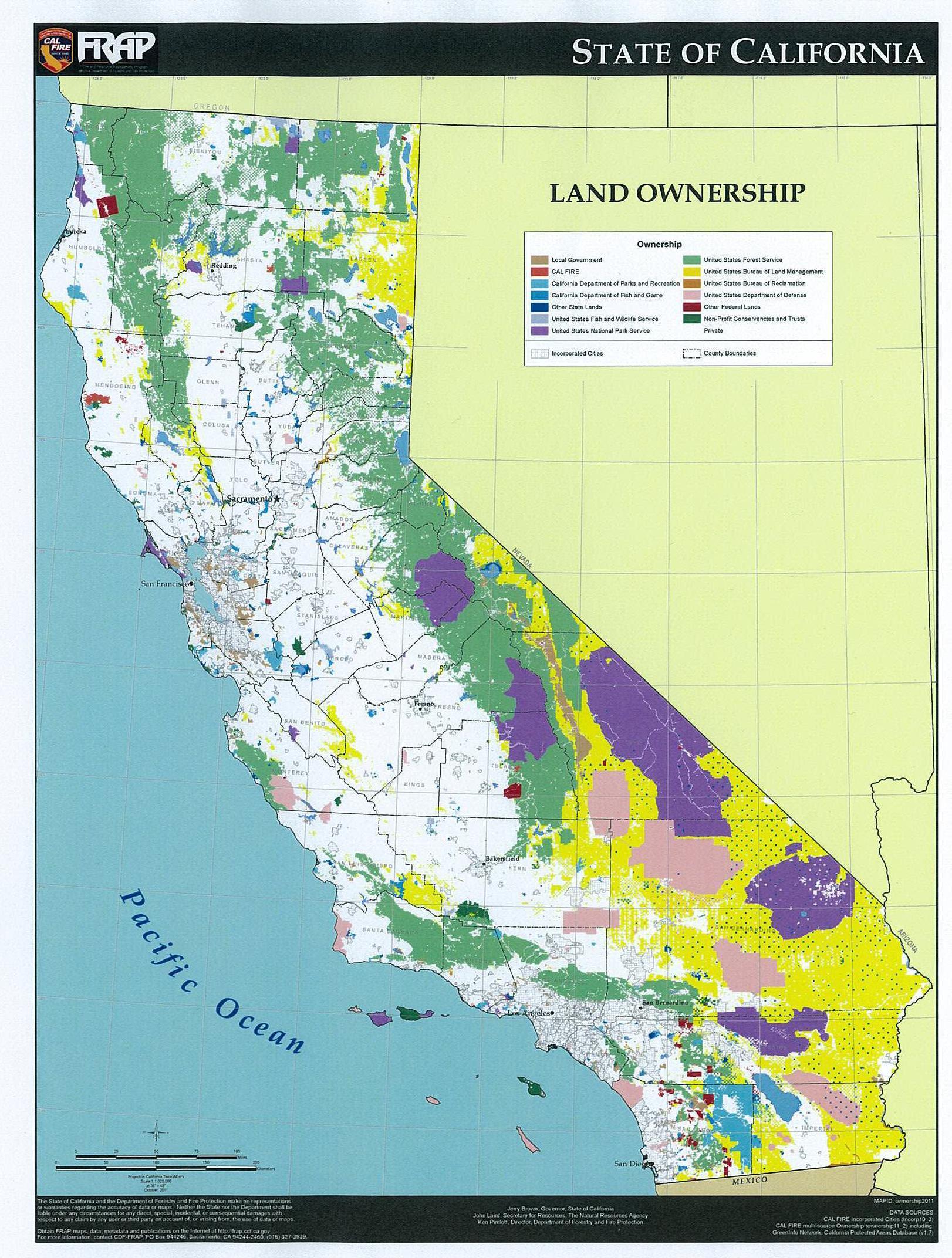 Alpha | Loggersdaughter - California Land Ownership Map