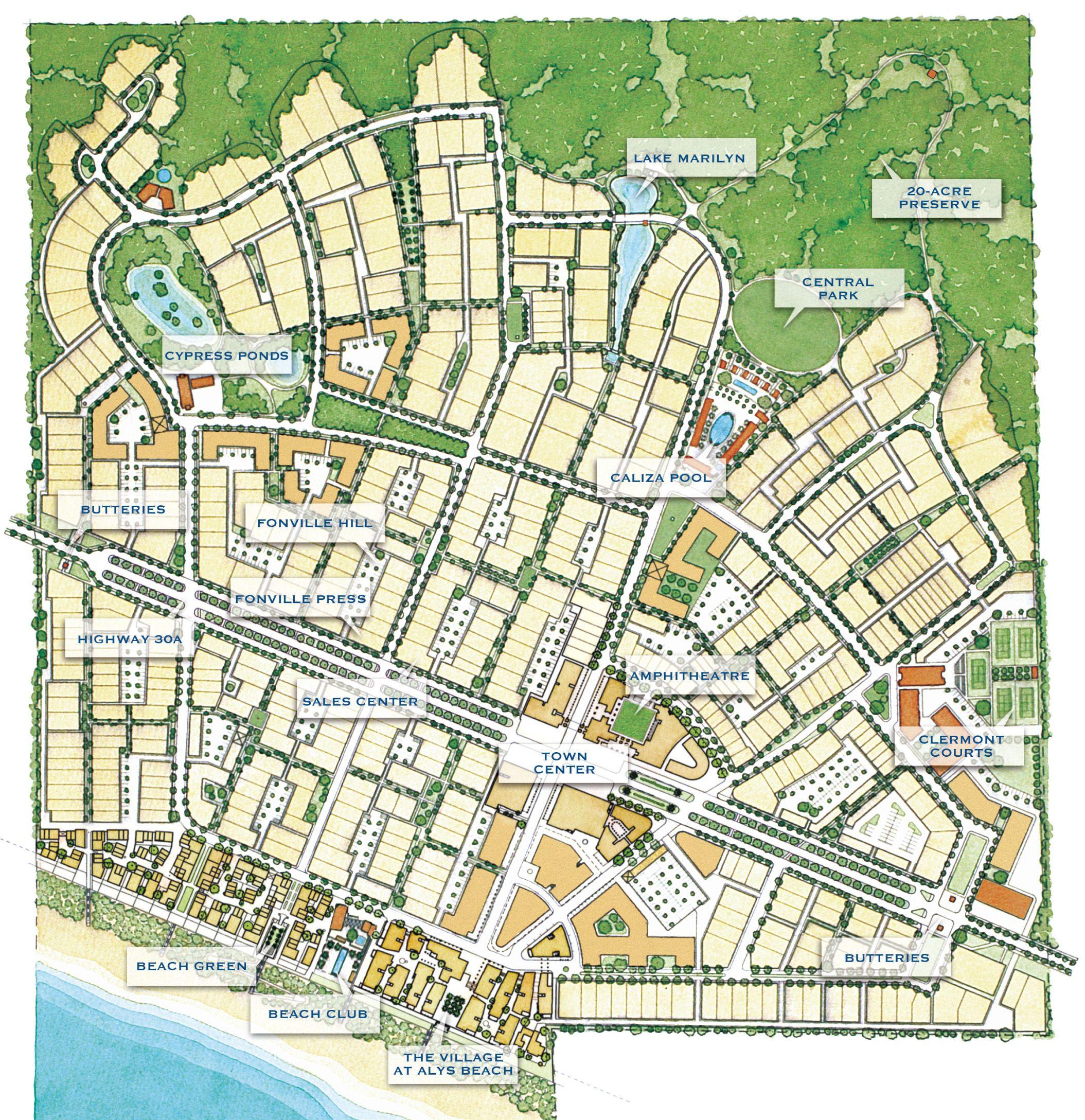 Alys Beach Florida Map | The Best Beaches In The World - Rosemary Beach Florida Map