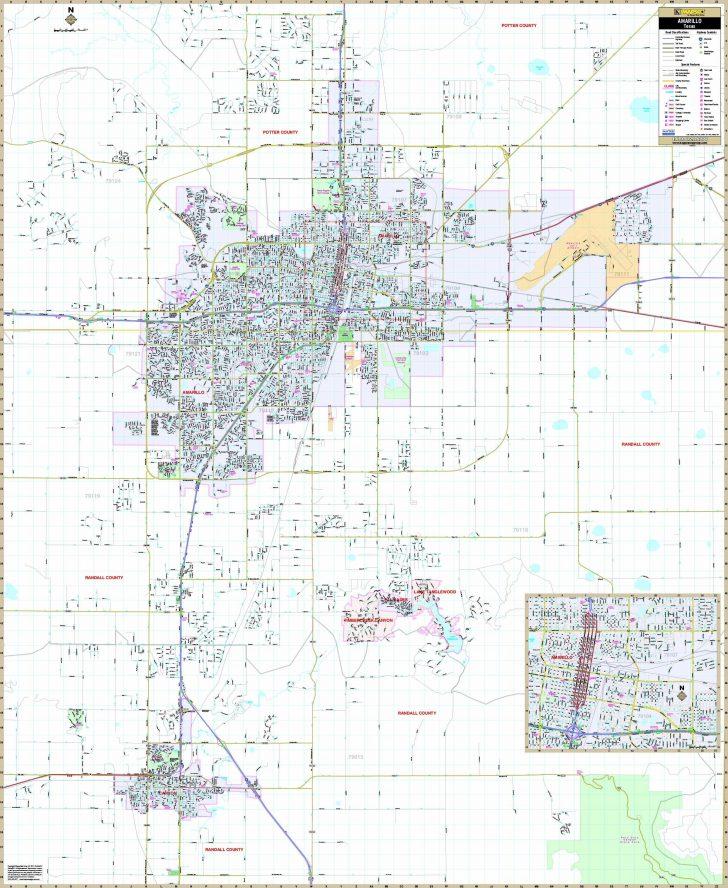 Printable Map Of Amarillo Tx