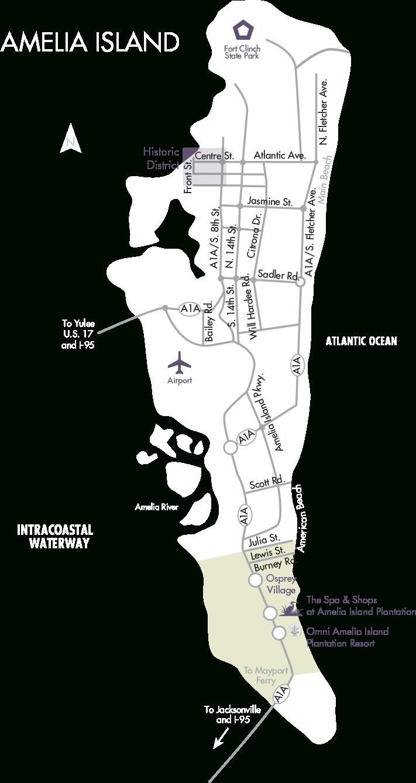 Amelia Island Real Estate   Fernandina Beach Homes For Sale - Amelia Island Florida Map