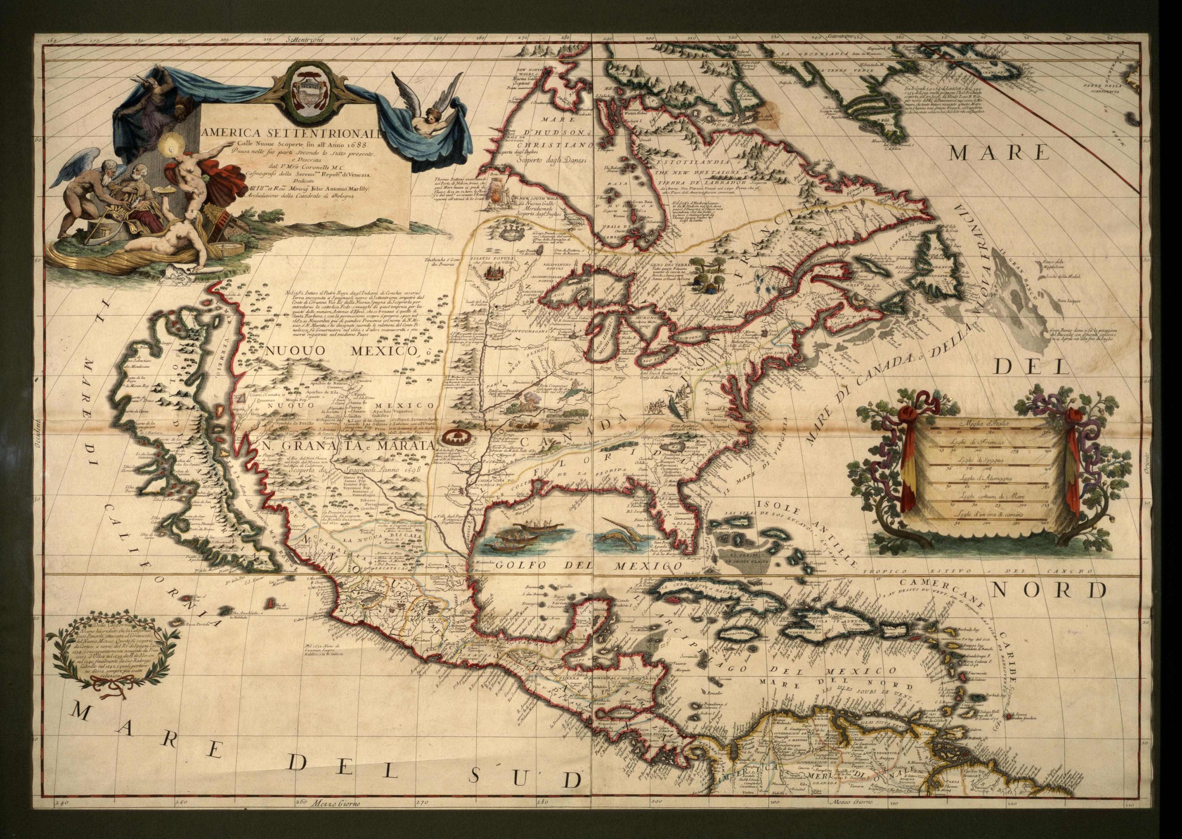 America Setentrionale – Map Of The North America | Picture This - Early California Maps