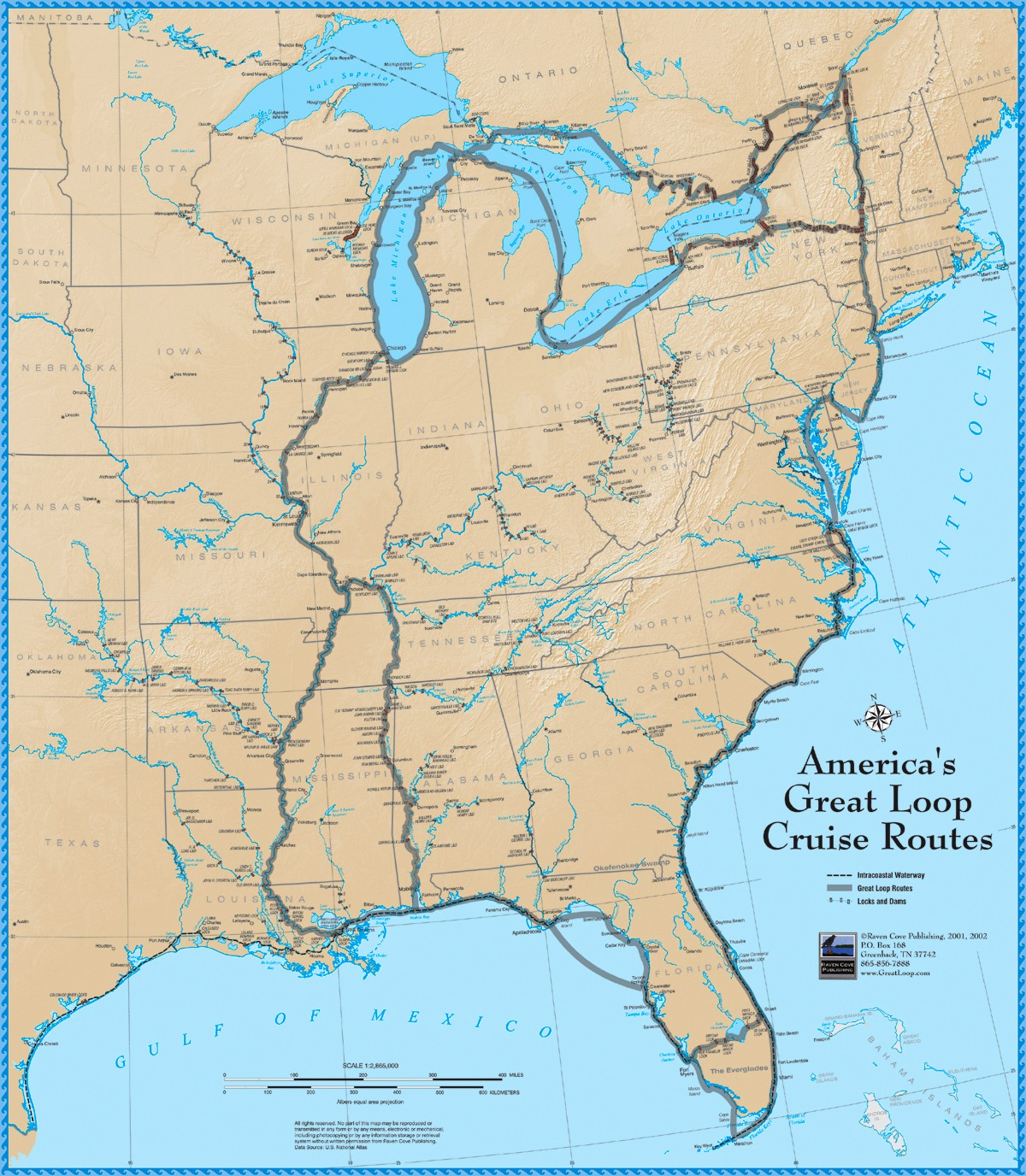 America's Great Loop Cruise Map - Intracoastal Waterway Florida Map