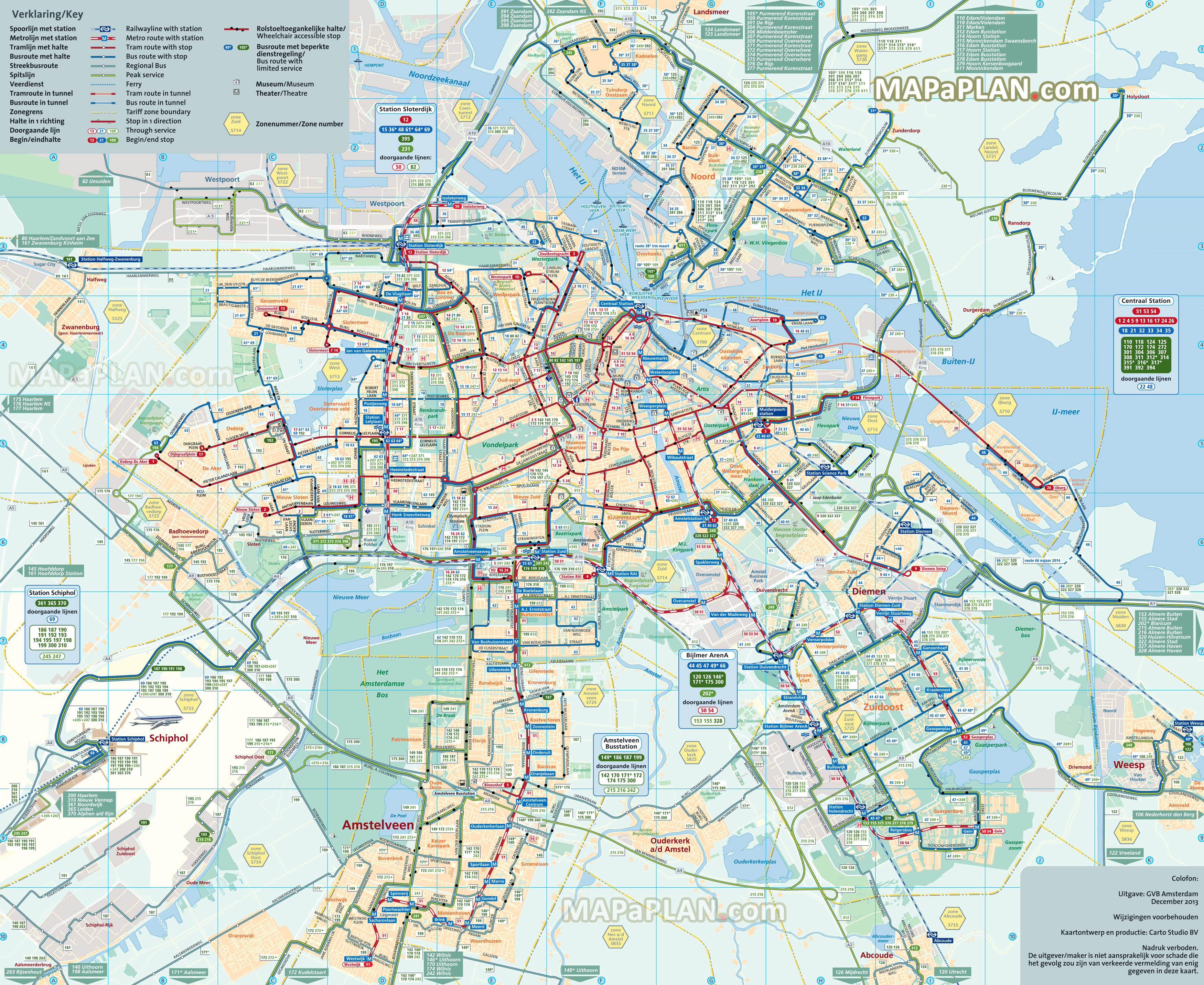 Amsterdam Maps - Top Tourist Attractions - Free, Printable City - Amsterdam Tram Map Printable