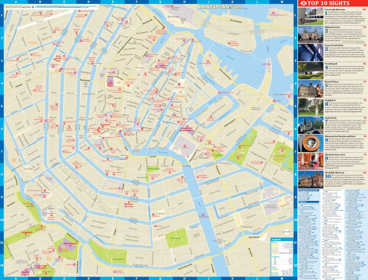 Printable Map Of Amsterdam