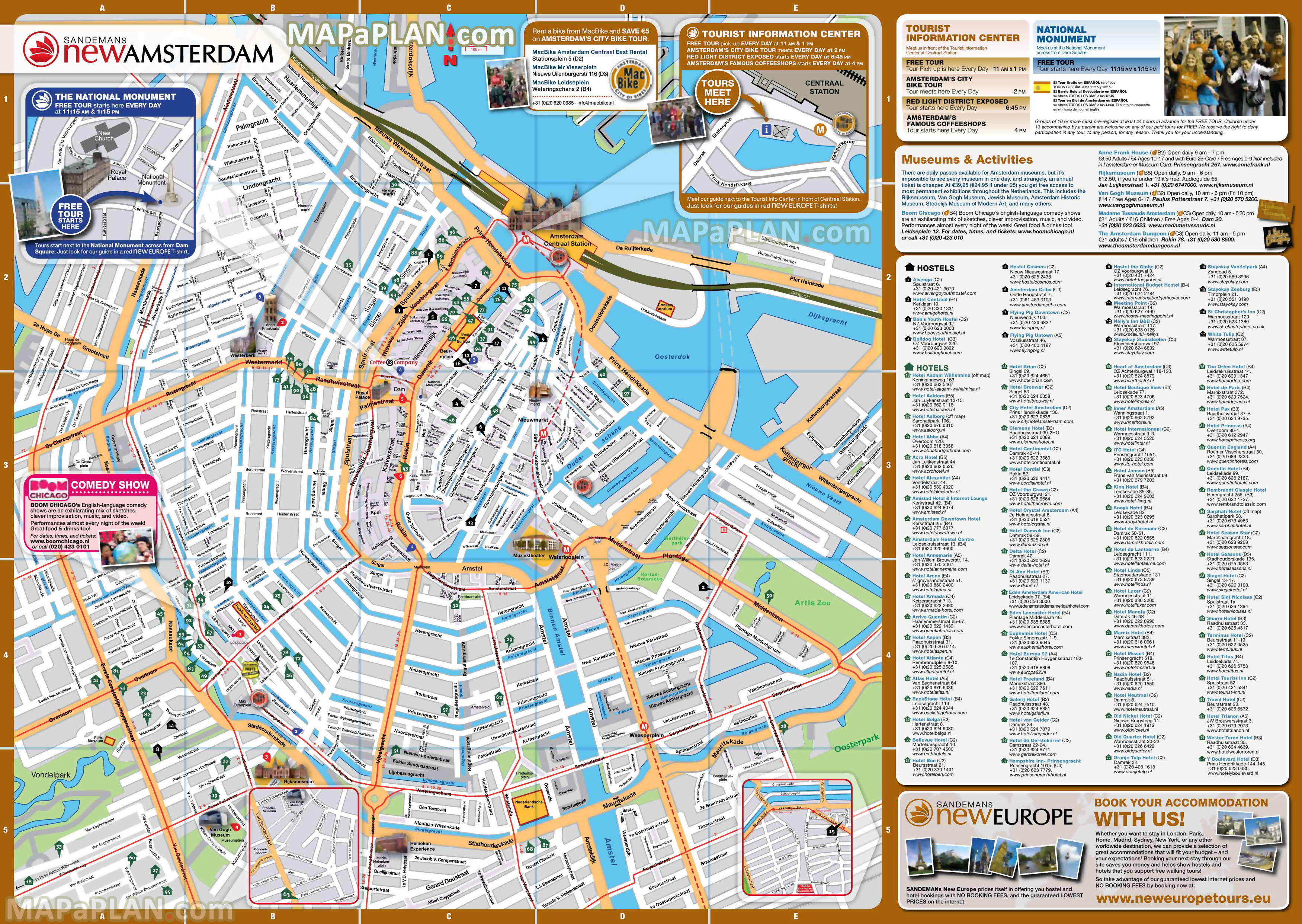Amsterdam Maps - Top Tourist Attractions - Free, Printable City - Printable Map Of Amsterdam City Centre