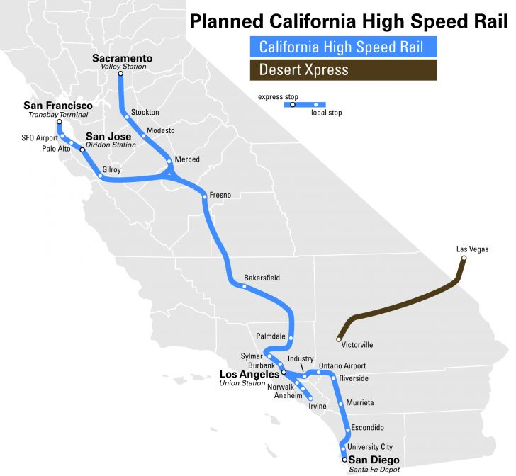 Amtrak Train Map California