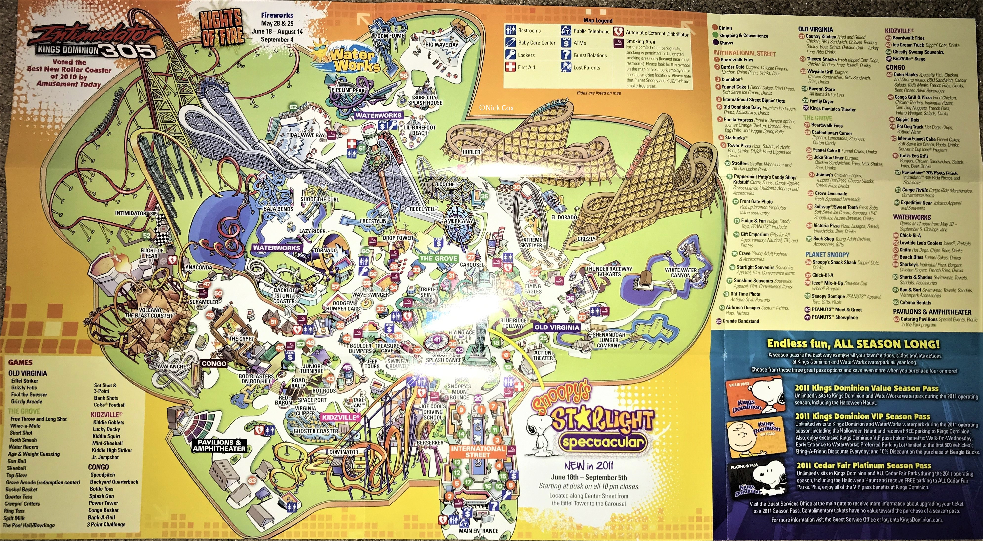 Amusement Parks California Map Best Of Kings Dominion Historical - Amusement Parks California Map