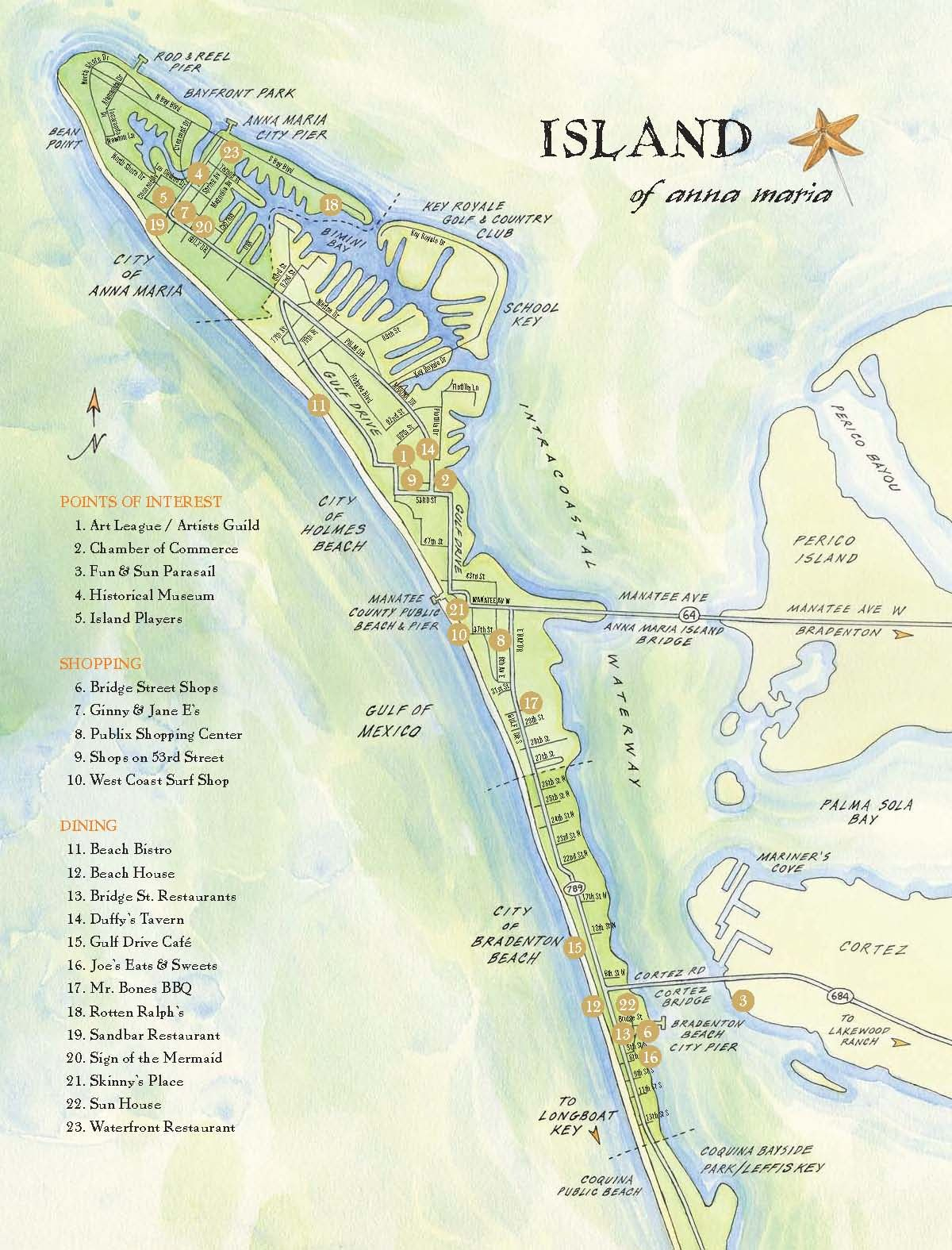 Ana Maria Island Tourist Map - Ana Maria Island • Mappery - Anna Maria Island Florida Map