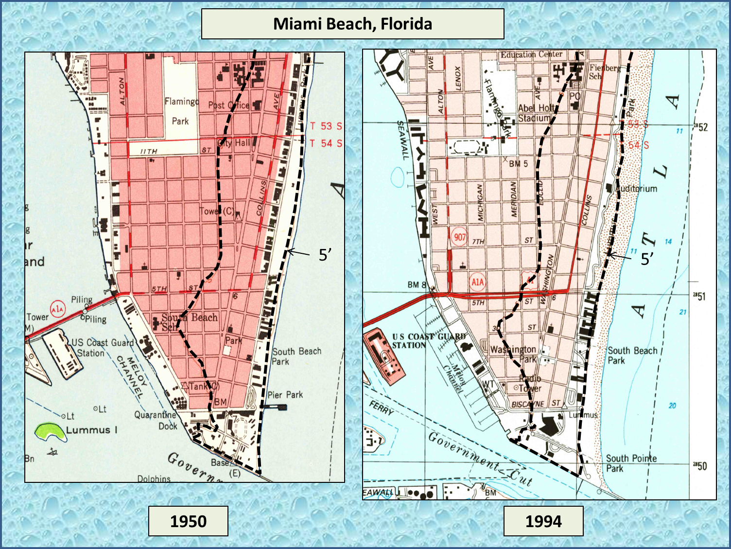 Analysis Debunks Absurd Sea Level Rise Claims About South Florida - South Florida Topographic Map