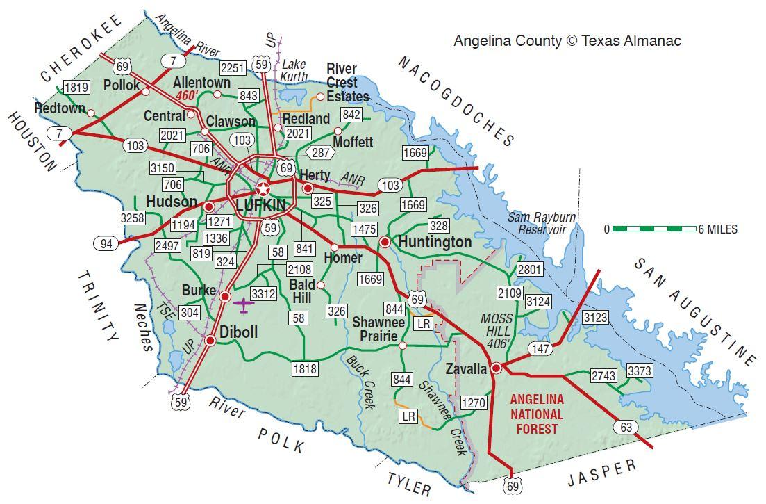 Angelina County | The Handbook Of Texas Online| Texas State - Google Maps Lufkin Texas