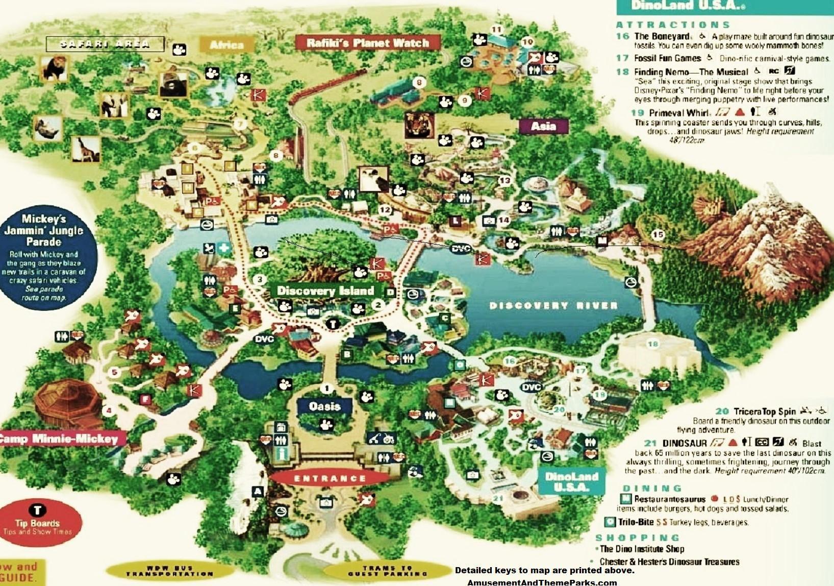 Animal Kingdom Map – Please See Large Print Maps And Keys Below For - Animal Kingdom Florida Map