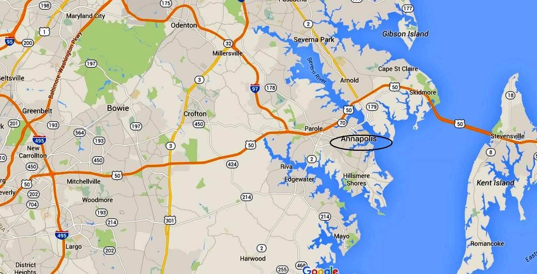 Annapolis Maps: Downtown And The Surrounding Area - Printable Map Of Annapolis Md