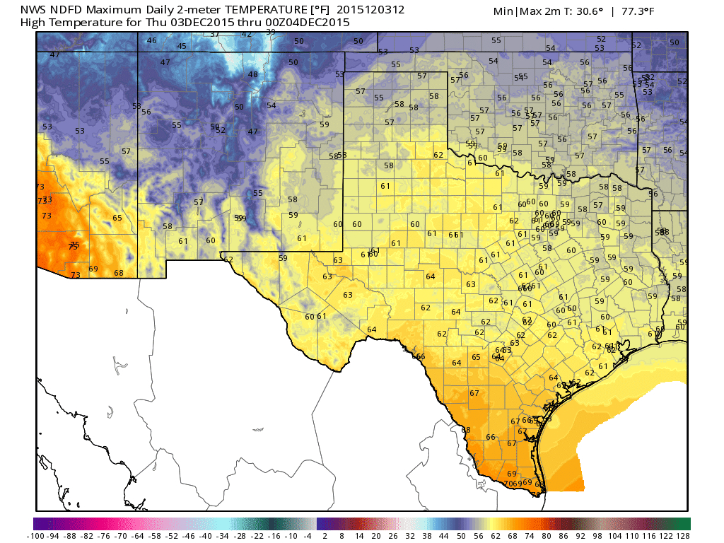 Another Great Weather Forecast For Texas • Texas Storm Chasers - Texas Temperature Map
