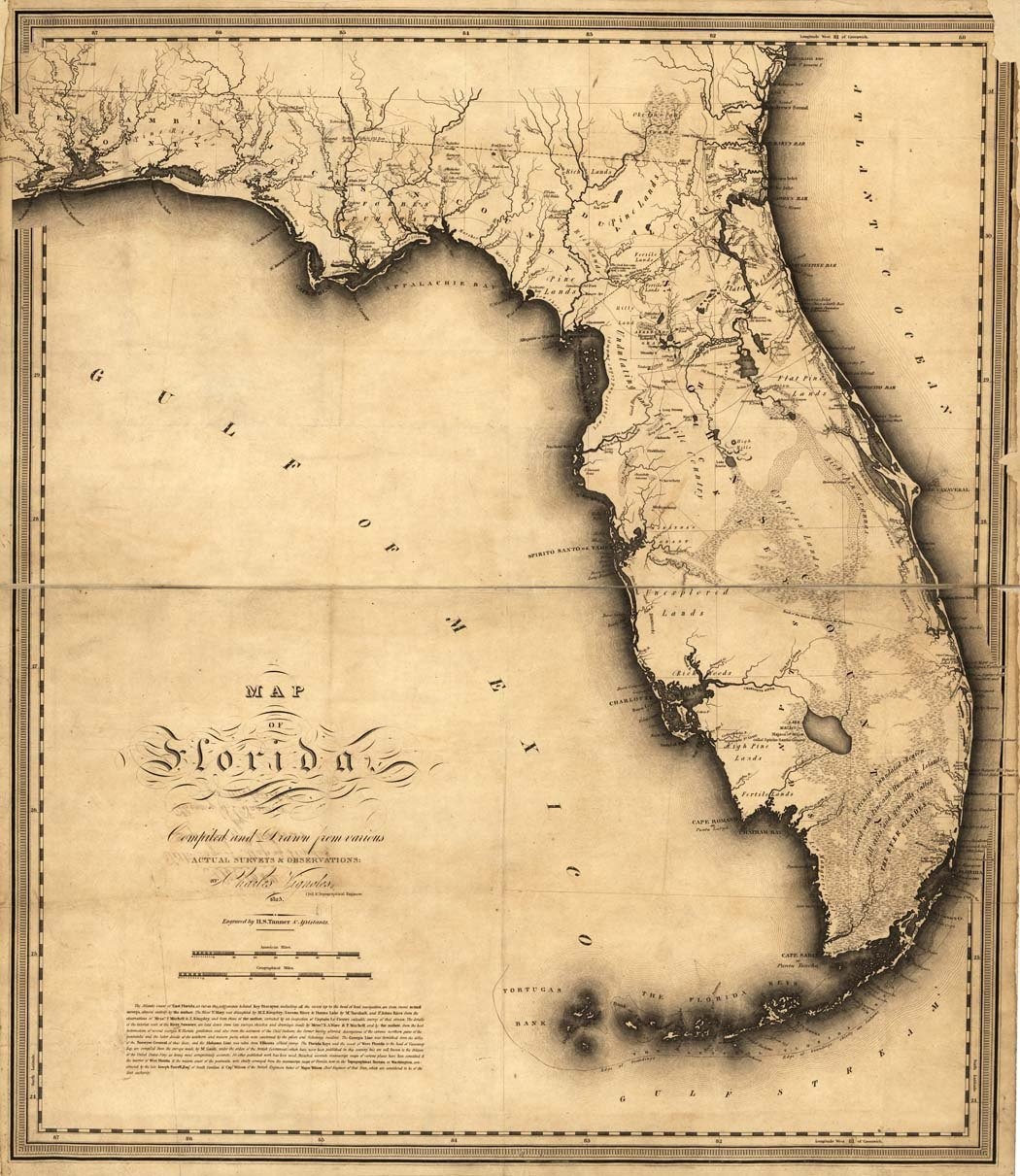 Antique Florida Map 1894-1895 - Antique Florida Map
