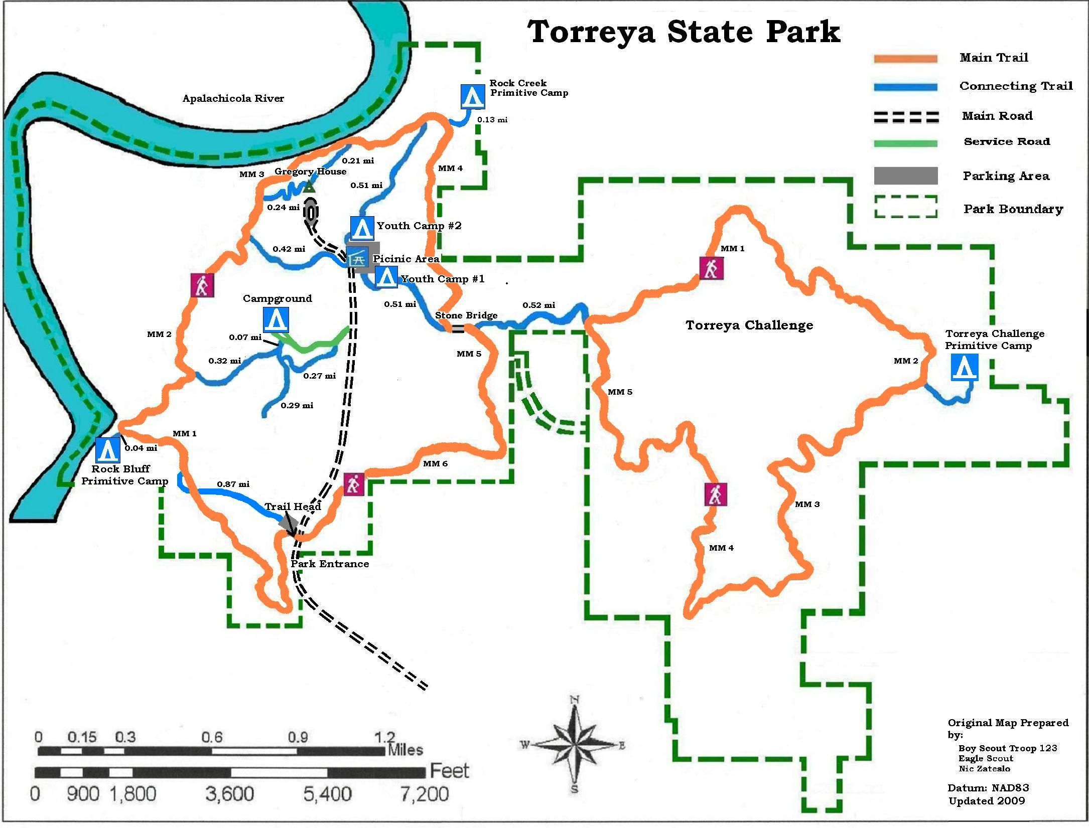 Apalachicola National Forest Campgrounds | Map Of Torreya State Park - Camping In Florida State Parks Map