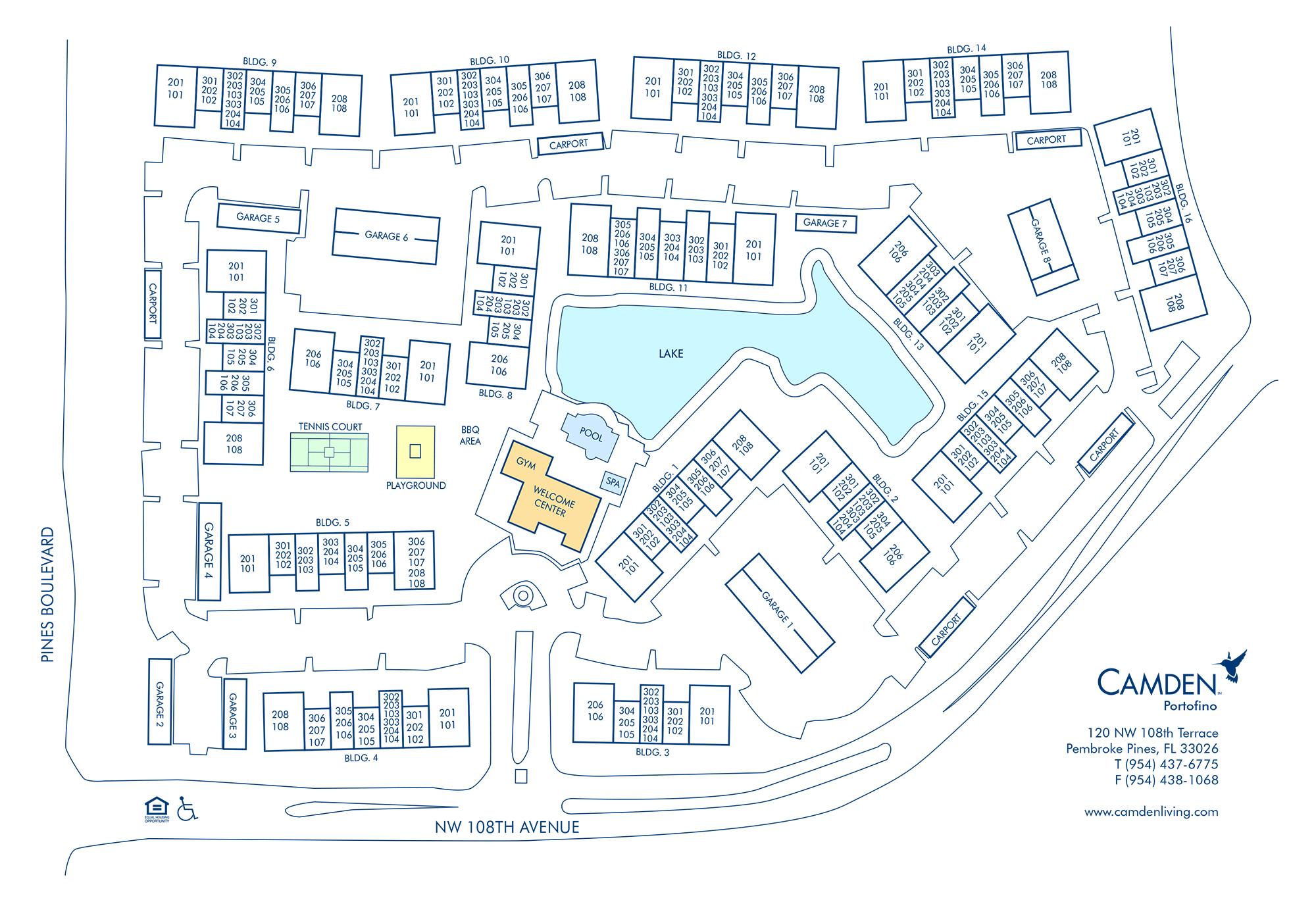 Apartments For Rent In Pembroke Pines, Fl - Camden Portofino - Portofino Florida Map