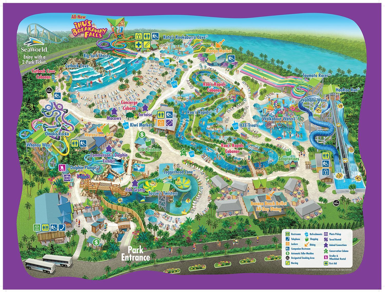 Aquatica Orlando Carte - Carte De Aquatica Orlando (Floride - Usa) - Aquatica Florida Map