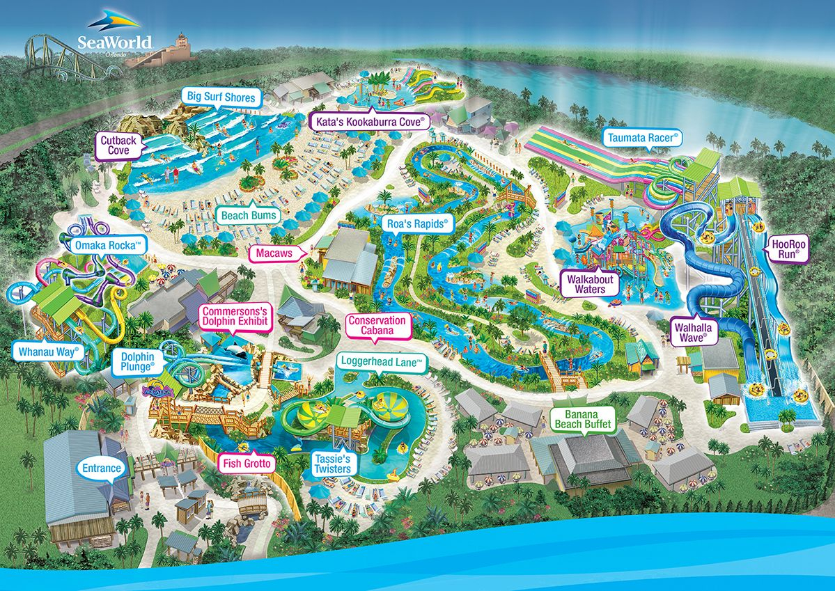 Aquatica Water Park, Orlando, Fl | Favorite Places | Orlando Parks - Aquatica Florida Map