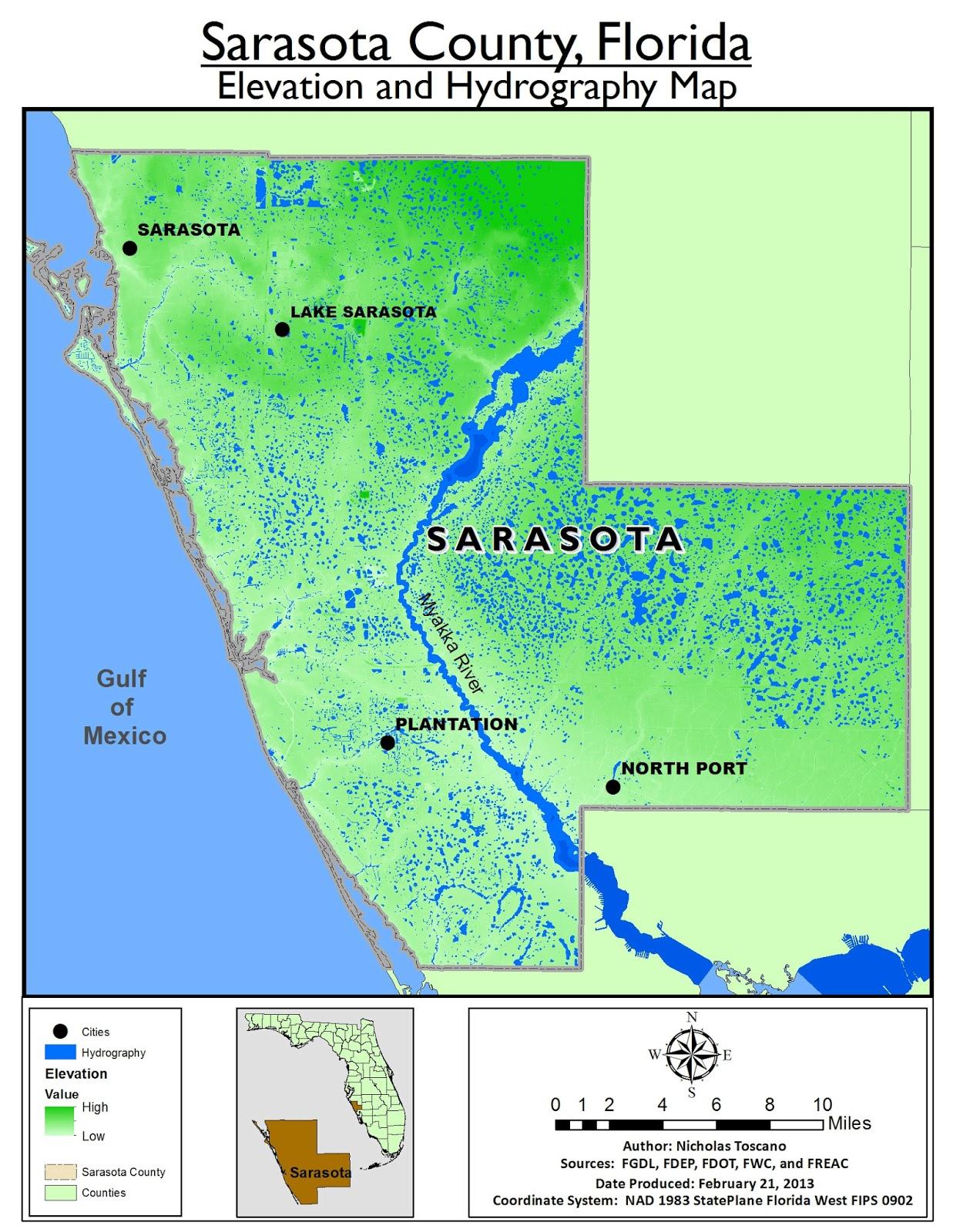 Arcmap | Speaklounge | Page 5 - Sarasota County Florida Elevation Map