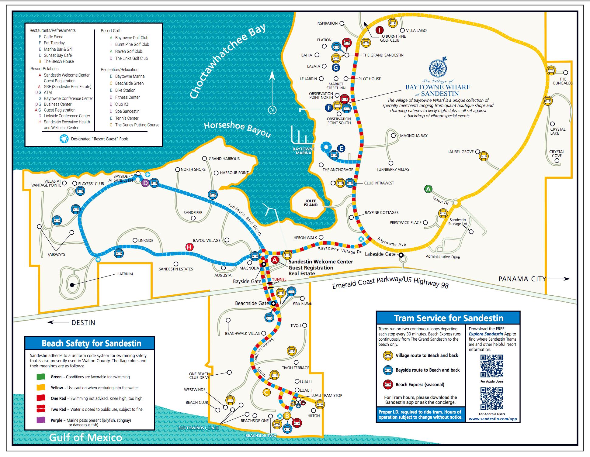 Area Maps | Sandestin Beach Maps | Hilton Sandestin Beach Golf - Sandestin Florida Map