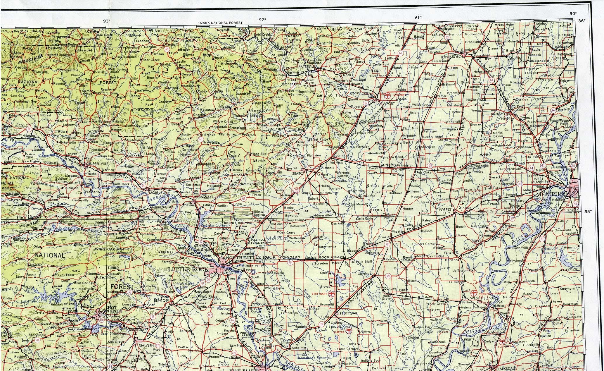 Arkansas Maps - Perry-Castañeda Map Collection - Ut Library Online - Texas Arkansas Map