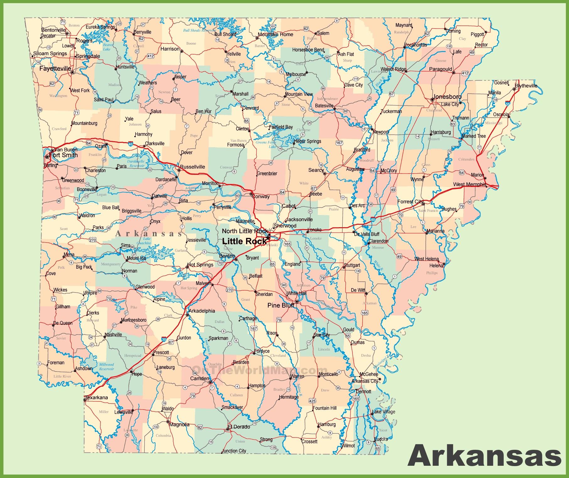 Texas, Oklahoma, Kansas, Missouri, Louisiana, Mississipi ...