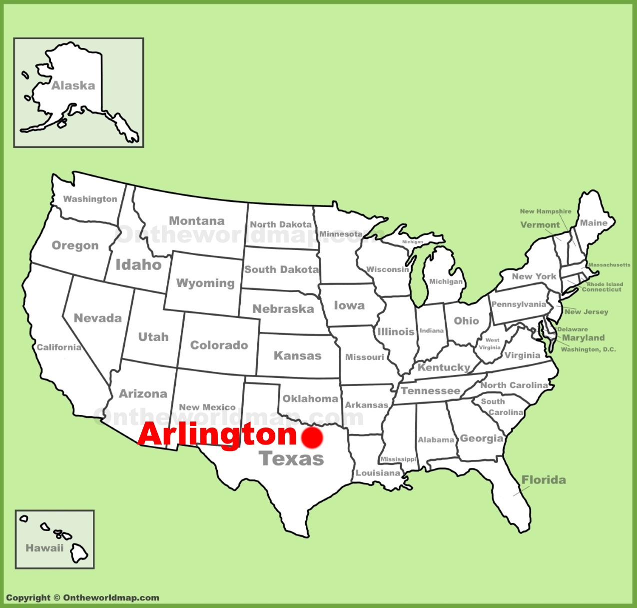 Arlington (Texas) Location On The U.s. Map - Arlington Texas Map