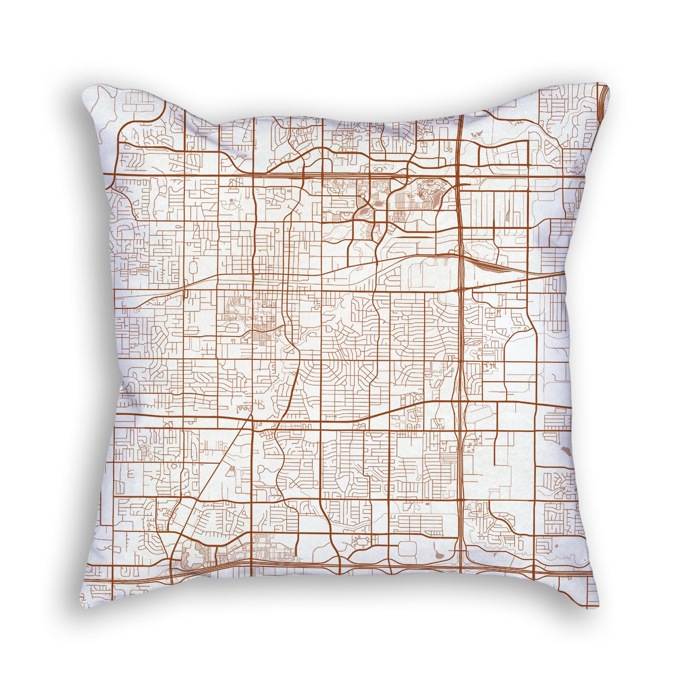 Arlington Texas Throw Pillow – City Map Decor - Texas Map Pillow