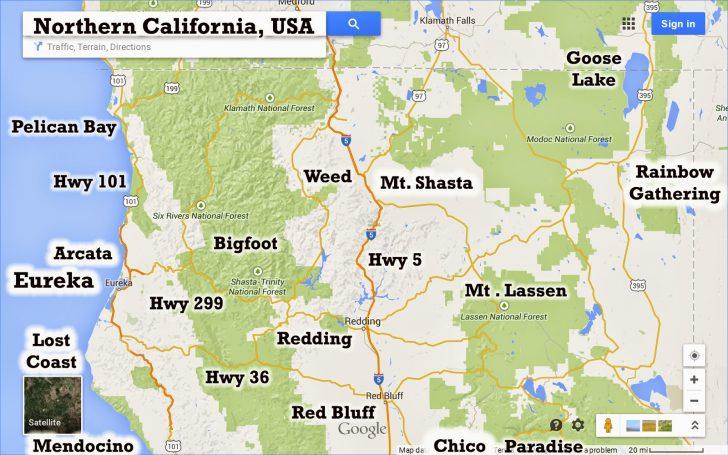 Paradise California Map