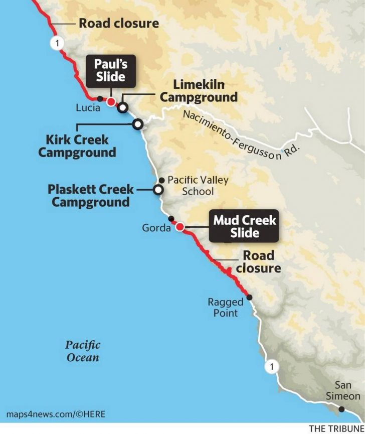 California Road Closures Map