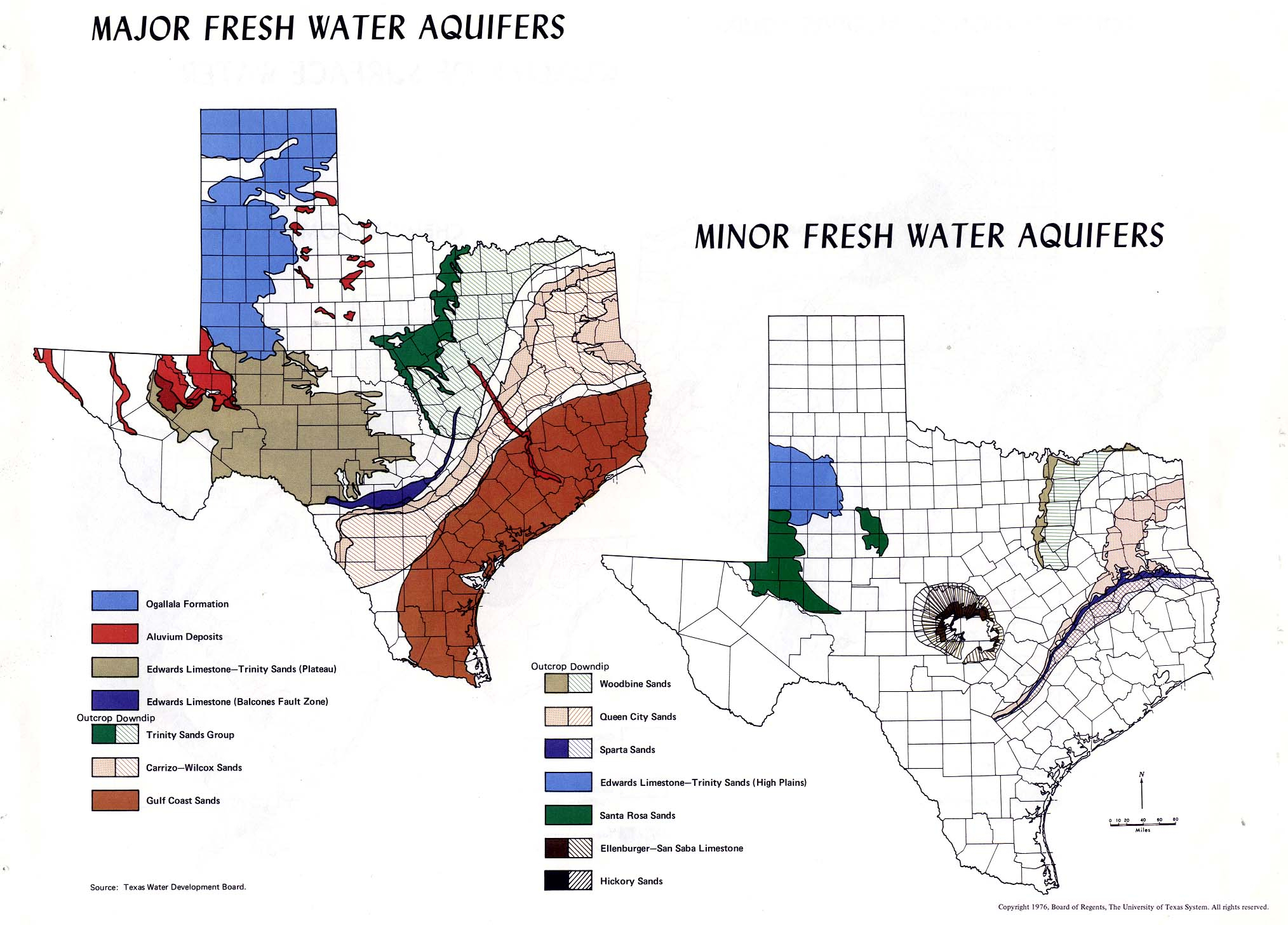 Atlas Of Texas - Perry-Castañeda Map Collection - Ut Library Online - Texas Water Well Location Map