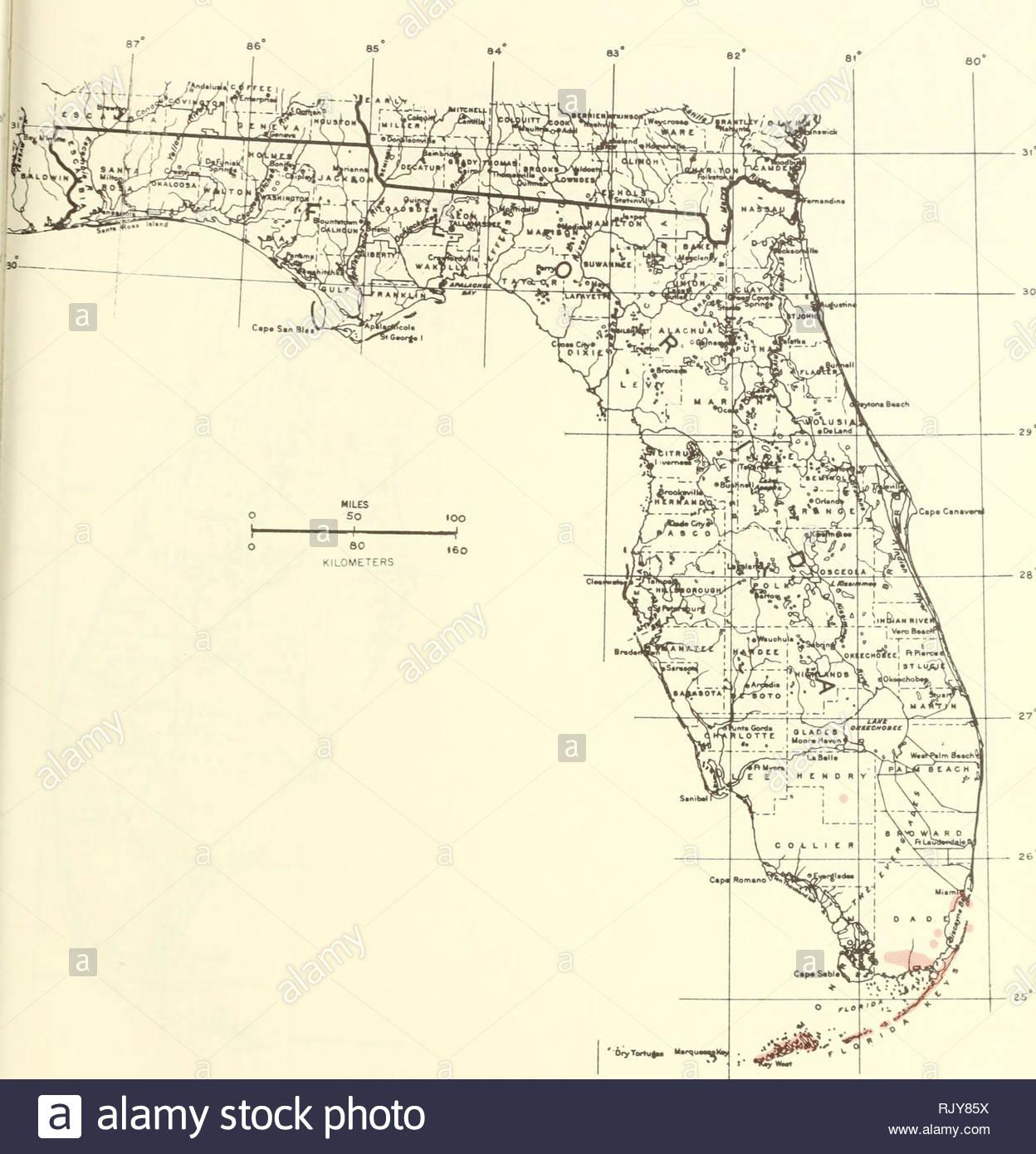 Atlas Of United States Trees: Volume 5. Florida. Trees. Map 174 - Florida Pollen Map