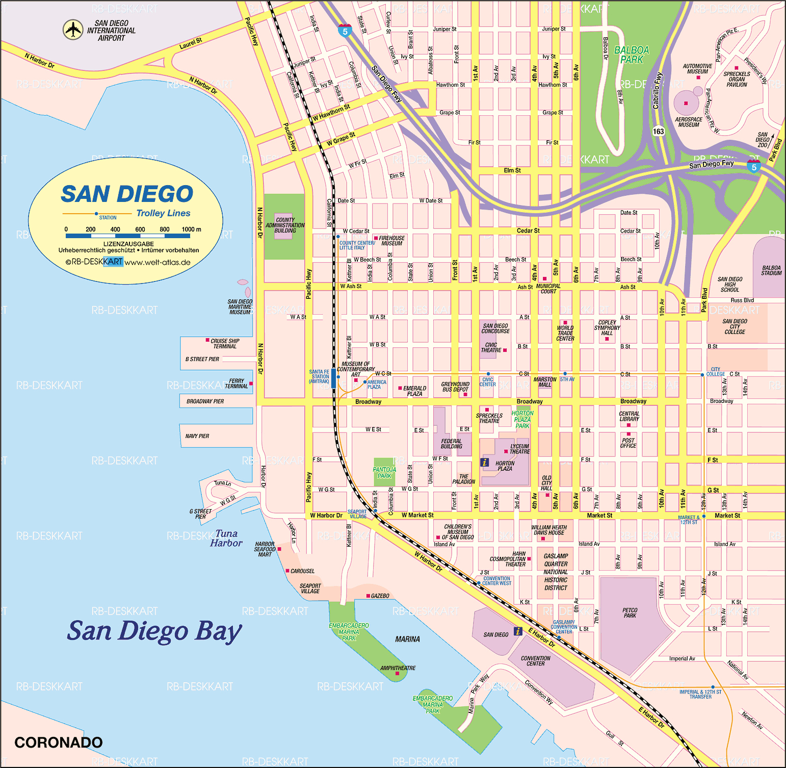 Atlas Plan De San Diego California State Map West Covina California - West Covina California Map