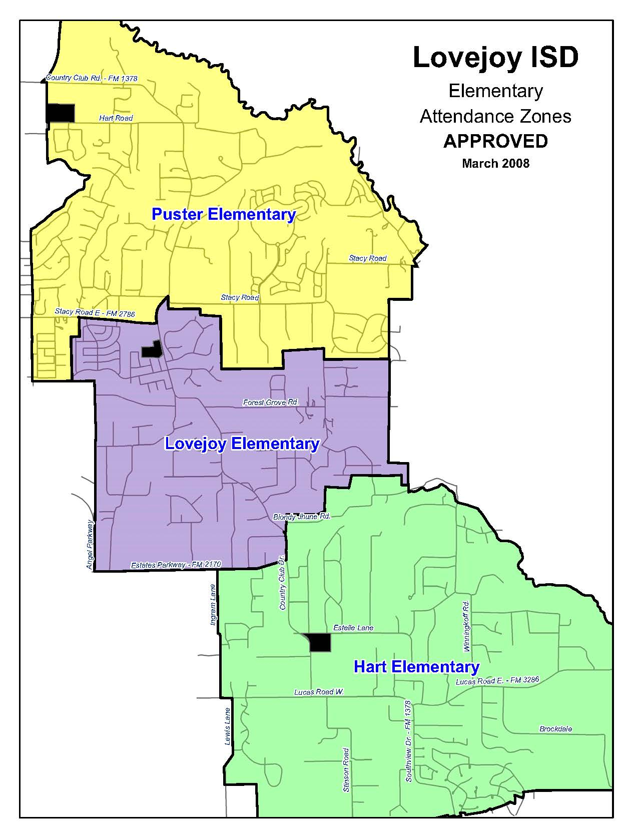 Attendance Zones – About Lisd – Lovejoy Independent School District - Texas School District Map
