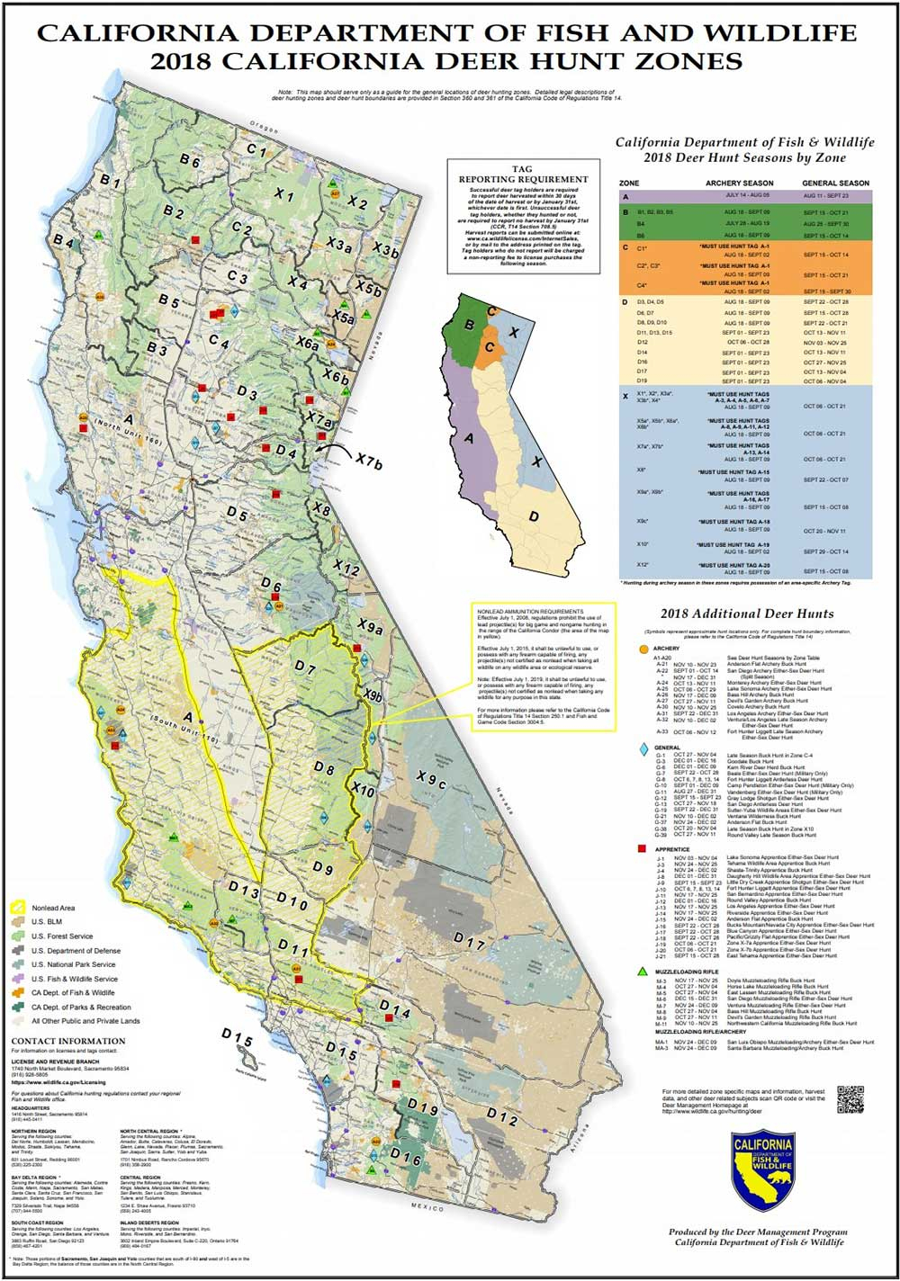 Attn California Hunters: Phase 2 Of Non-Lead Ammunition Requirements - California Hunting Map