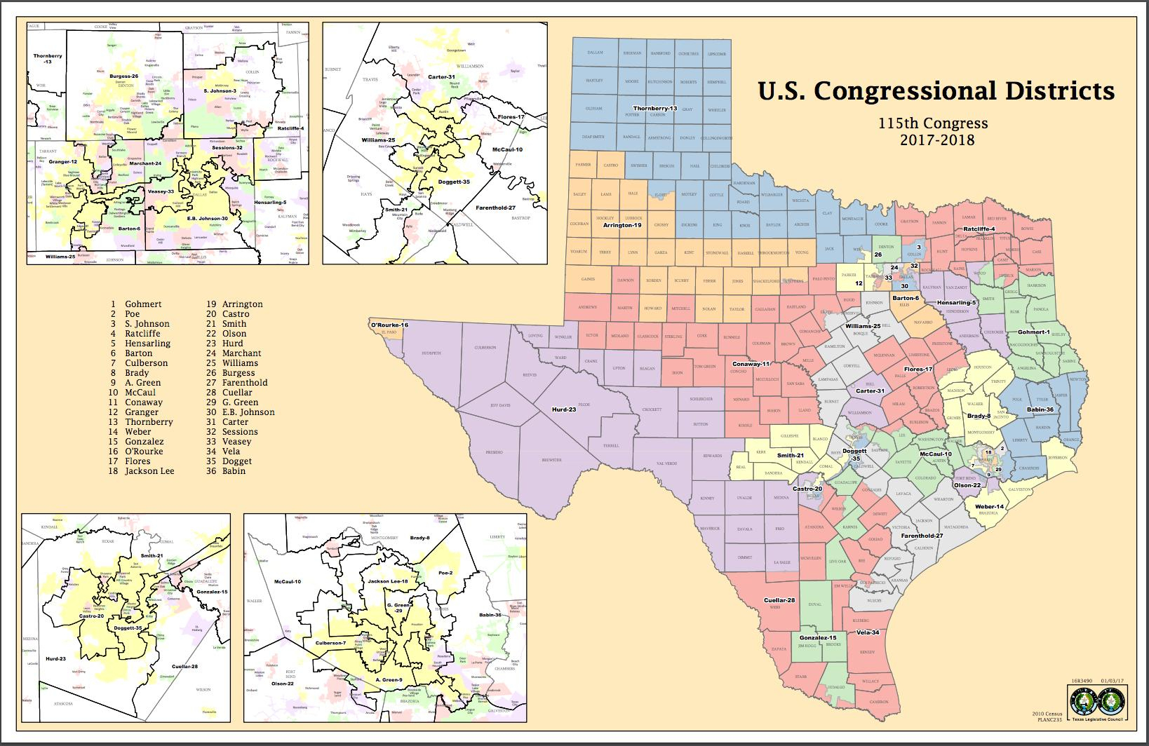 Attorneys Say Texas Might Have New Congressional Districts Before - Texas Congressional District Map