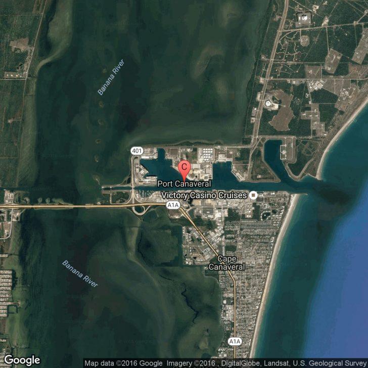 Port Canaveral Florida Map
