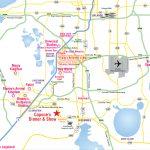 Attractions Map : Orlando Area Theme Park Map : Alcapones   Road Map Of Orlando Florida