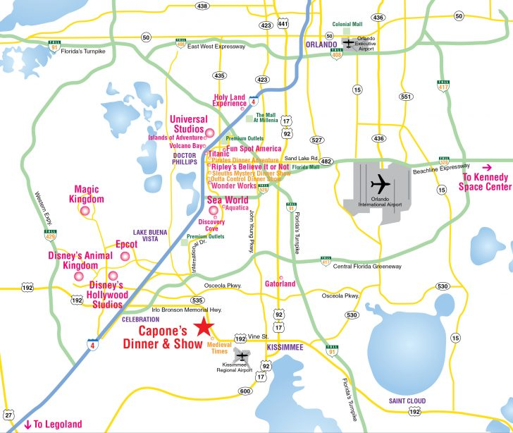 Road Map To Orlando Florida