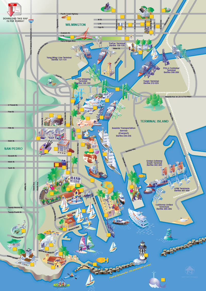 Attractions Php California State Map Southern California Attractions - California Sightseeing Map
