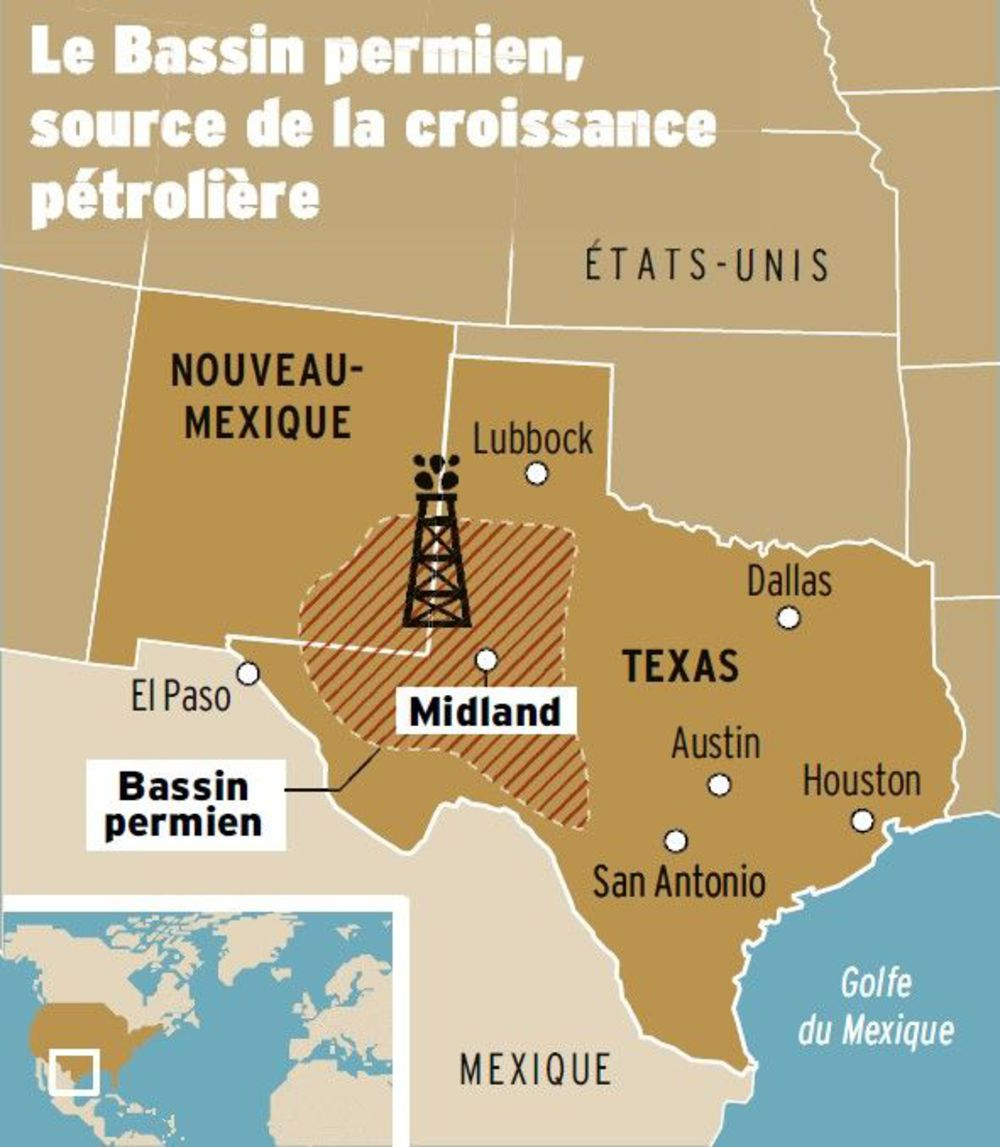 Au Texas, La Nouvelle Fièvre De L'or Noir - L'express - Texas Rut Map 2017