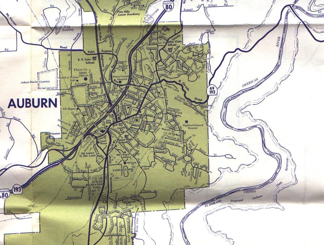Auburn California Map - Touran - Auburn California Map