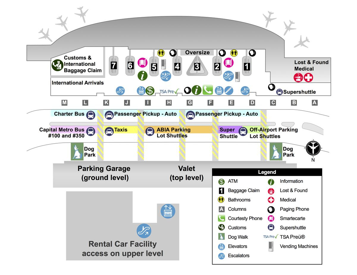 Austin Bergstrom Airport Map | Park Ideas - Austin Texas Airport Terminal Map