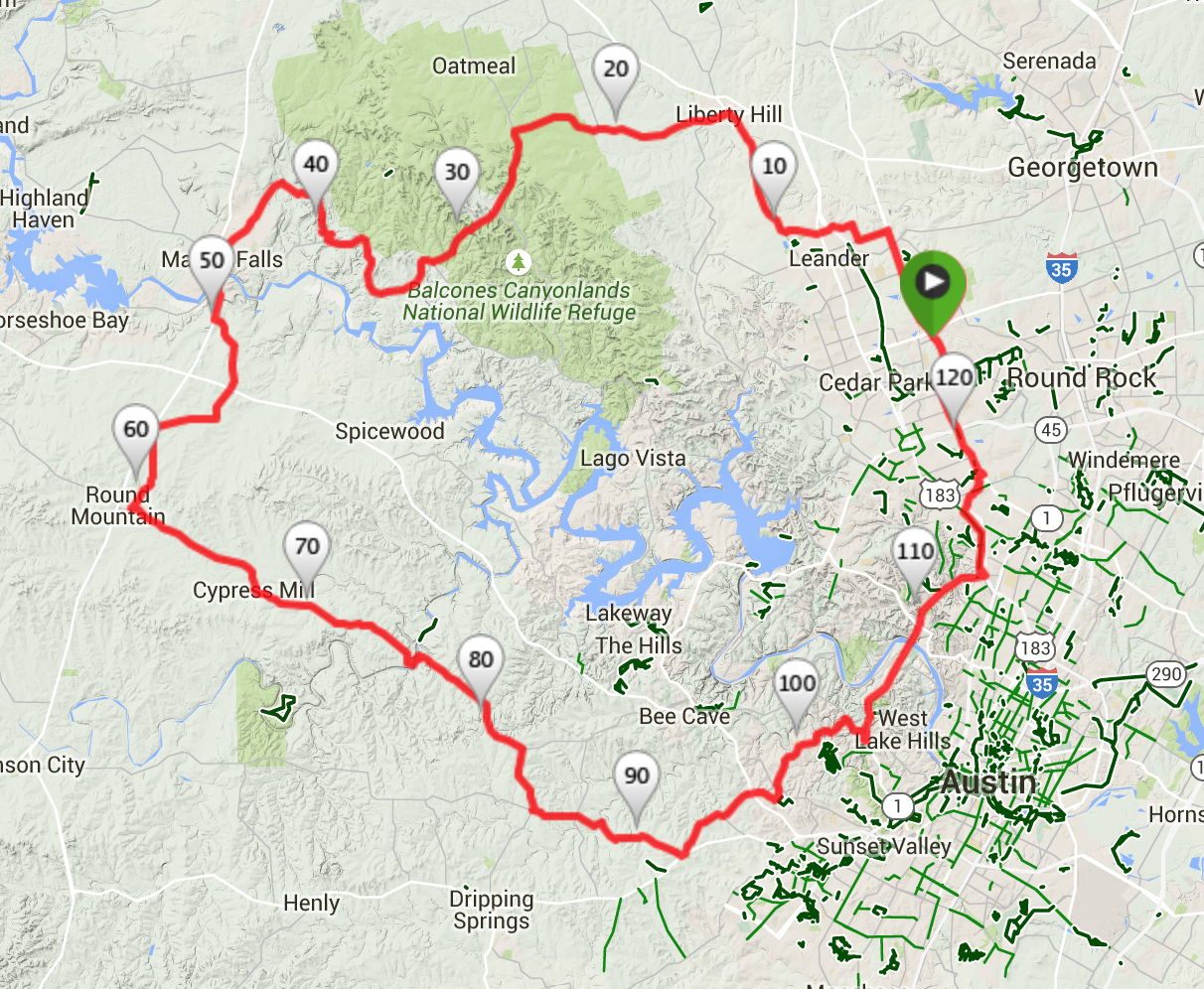 Austin Cycling Routes | - Austin Texas Bicycle Map