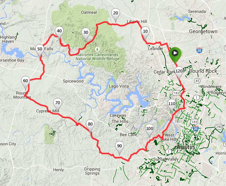 Austin Cycling Routes | - Austin Texas Bike Map
