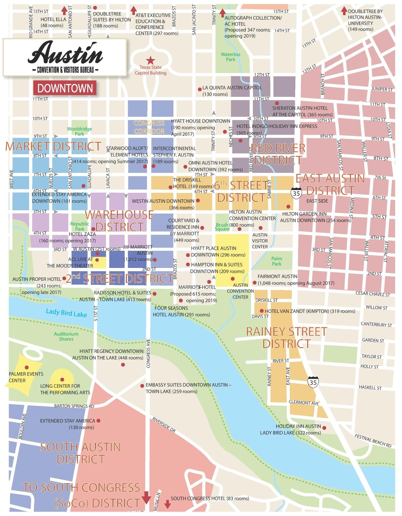 Austin Maps | Texas, U.s. | Maps Of Austin - Austin Texas Map Downtown